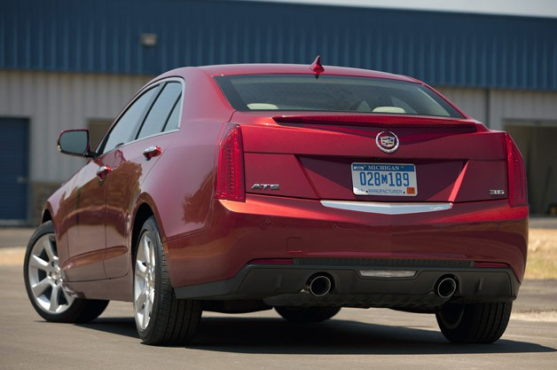2013 Cadillac ATS rear 3/4 view