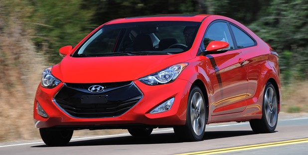 2013 Hyundai Elantra Coupe driving