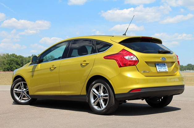2012 Ford Focus 1.0-liter EcoBoost rear 3/4 view
