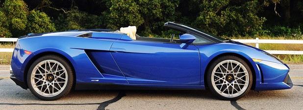 2012 Lamborghini Gallardo LP 550-2 Spyder side view