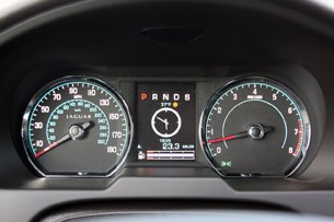 2012 Jaguar XFR gauges