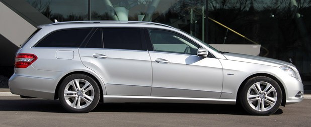2012 Mercedes E 300 BlueTEC Hybrid side view