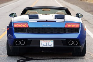 2012 Lamborghini Gallardo LP 550-2 Spyder rear view