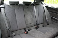 2012 BMW M135i rear seats