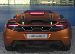 McLaren MP4-12C dead-on rear view