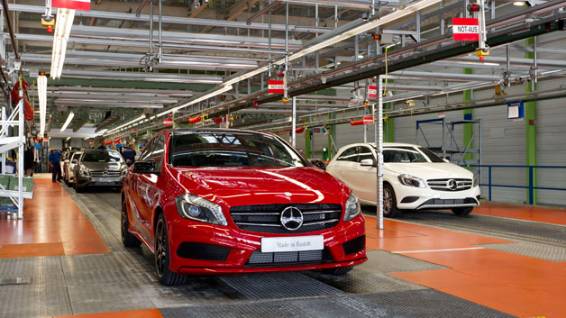 New Mercedes-Benz A-Class production begins