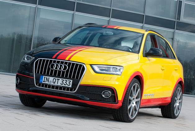 Audi Q3 tuned by MTM with German flag motif