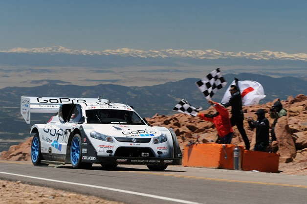 Pikes Peak International Hill Climb - GoPro Suzuki takes the checkered flag