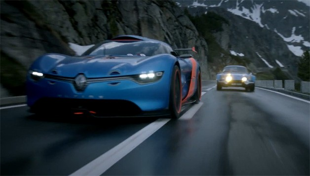 Renault Alpine A110-50 Concept against classic Alpine A110