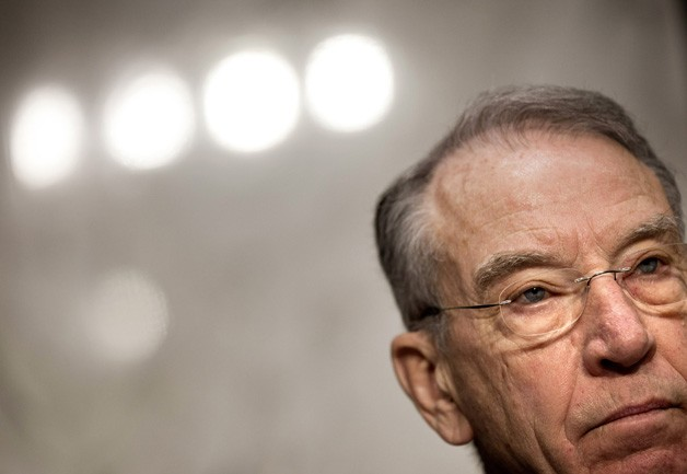Sen. Chuck Grassley (R-Iowa) in the spotlights