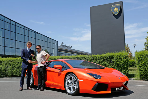 Official: Lamborghini celebrates assembly of 1,000th Aventador - Autoblog