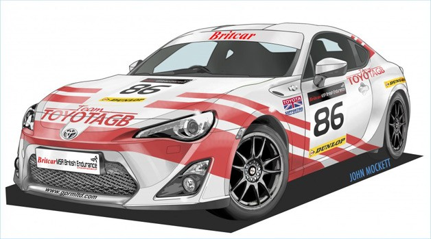 Toyota GT 86 in AE 86 livery for Britcar racing