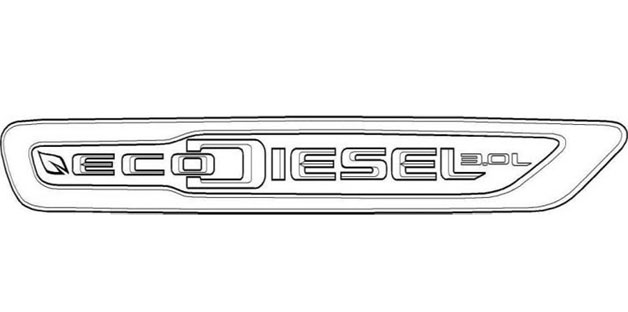 trademark for chryslers new ecodiesel badge628 Chrysler going with EcoDiesel brand name?