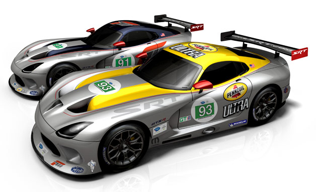 SRT Viper GTS-R in 2012 racing livery - front three-quarter view
