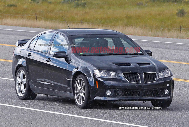 Chevy SS mule wearing Pontiac G8 bodywork