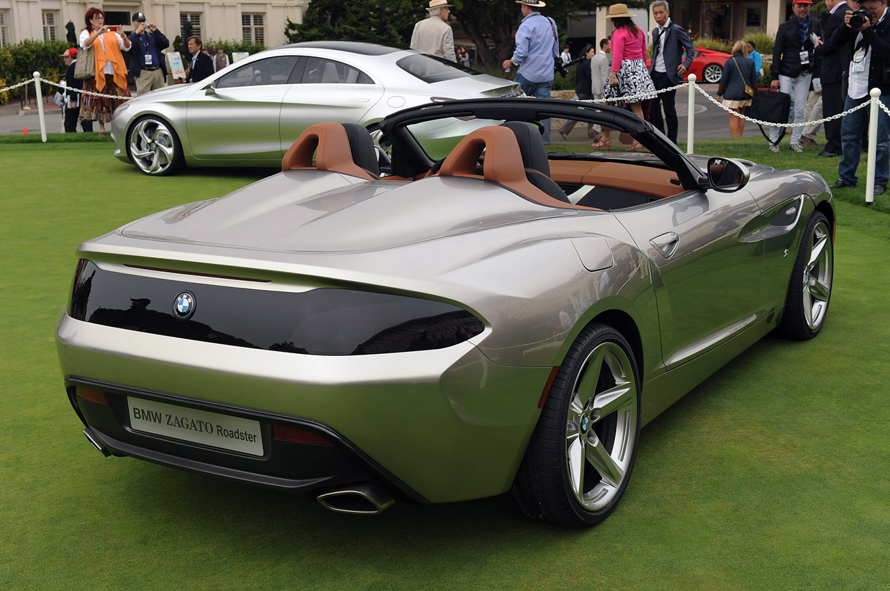 Bmw Zagato Roadster Lurks On The Concept Lawn Of Pebble
