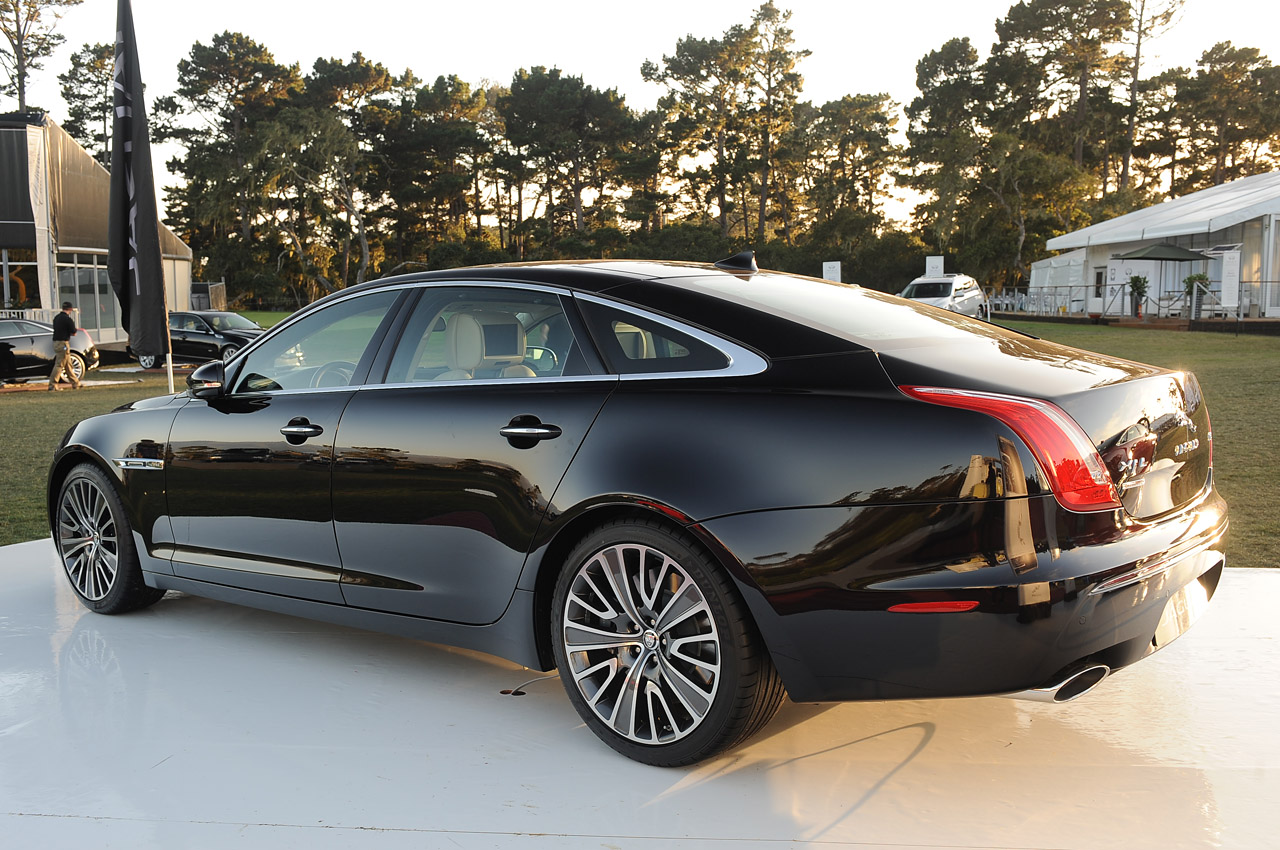 jaguar cars first test end xj motor xjl in front trend supercharged series