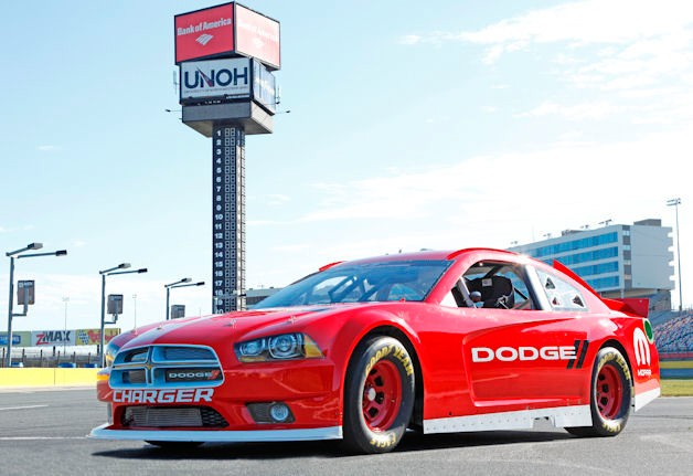 Dodge Charger NASCAR racer - front three-quarter view