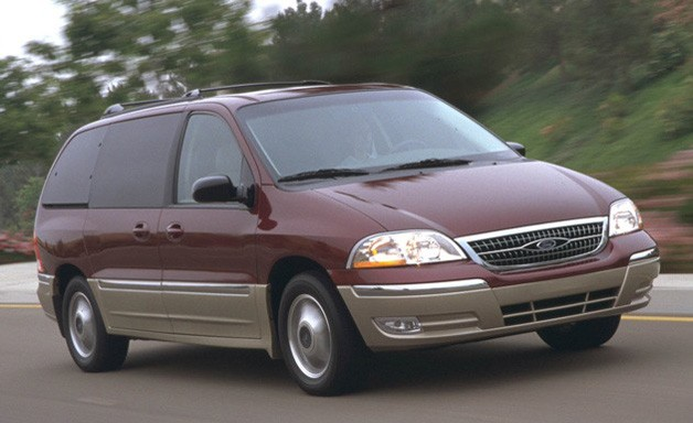 Ford Windstar minivan - maroon and tan two-tone