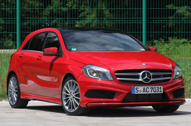 2012 Mercedes A-Class - red - front three-quarter static view