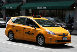 2012 Toyota Prius V New York City Taxi with old logo