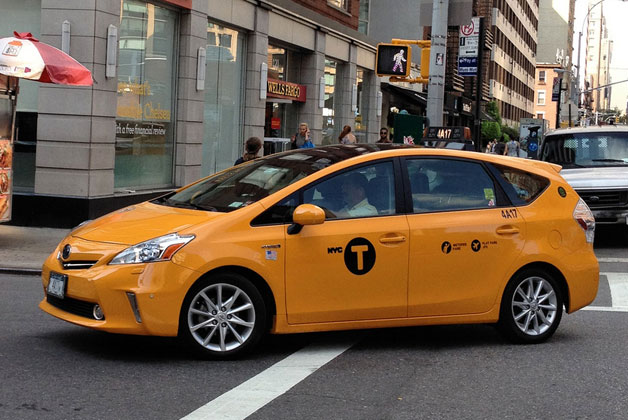 2012 Toyota Prius V New York City Taxi