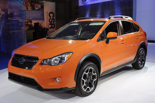 2013 Subaru XV Crosstrek live at New York Auto Show - orange