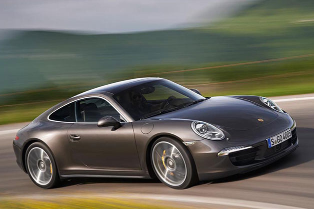 2013 Porsche 911 C4S - Gray - Dynamic front three-quarter view
