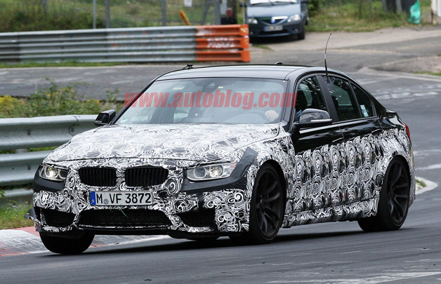 2014 BMW M3 spy shot