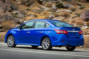 2013 Nissan Sentra - rear three-quarter dynamic view
