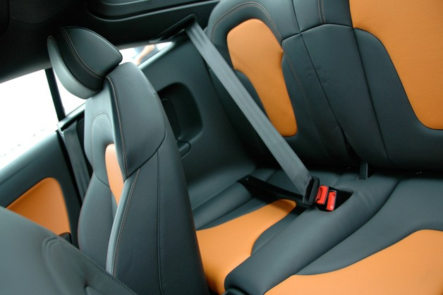 Audi TTS rear seat - orange and gray leather
