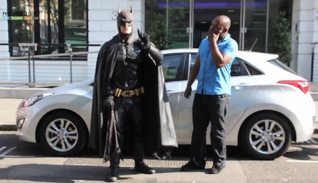 Canadian Batman interrupts filming of Hyundai i30 video review