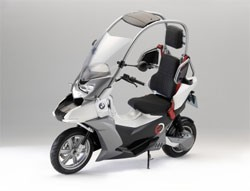 BMW Motorrad C1 scooter  - front three-quarter studio view