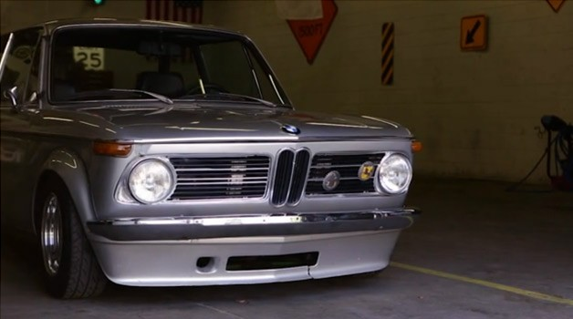 silver bmw 2002 from cars i see episode 2 in a garage