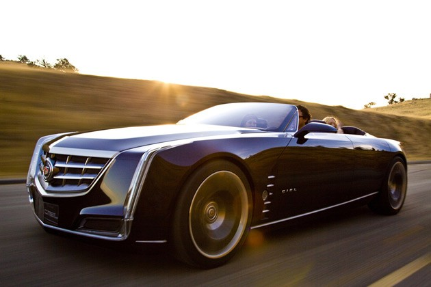 Cadillac Ciel concept  - in motion - front three-quarter view