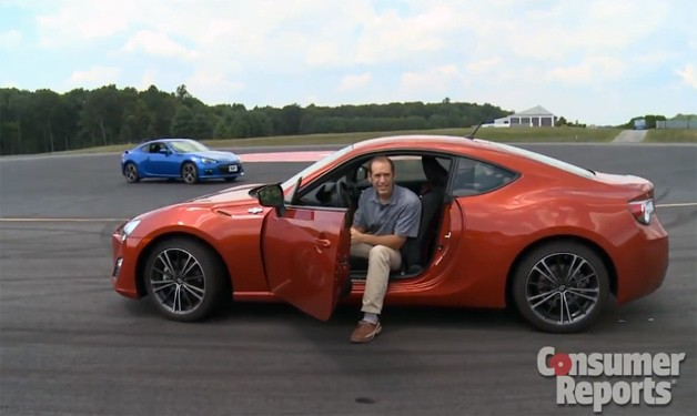 Consumer Reports pits Scion FR-S against Subaru BRZ
