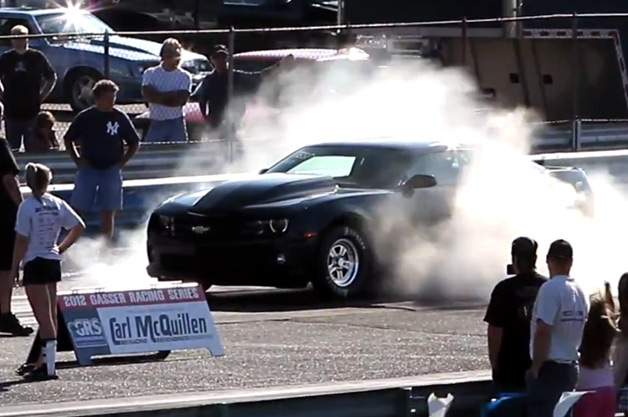 COPO Chevrolet Camaro burnout