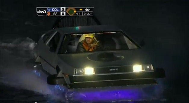 DeLorean Hovercraft in McCovey Cove