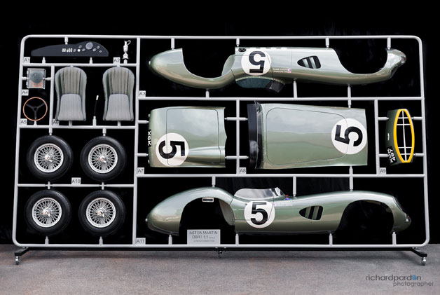 ETC: 1:1 scale model parts tree of Aston Martin's 1959 Le Mans winner is stunning - Autoblog