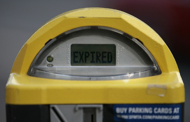 Expired parking meter