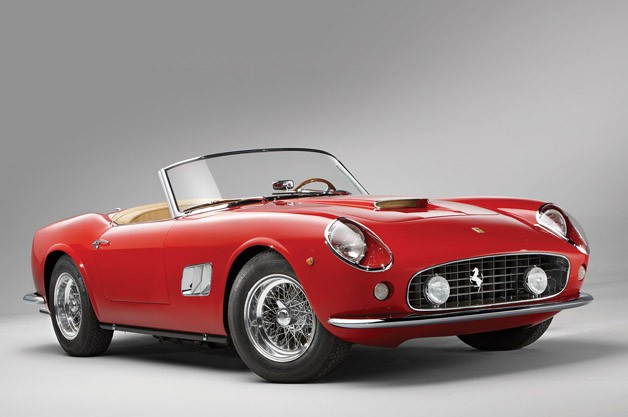 1962 Ferrari 250 GT SWB California Spyder - red - three-quarter studio view