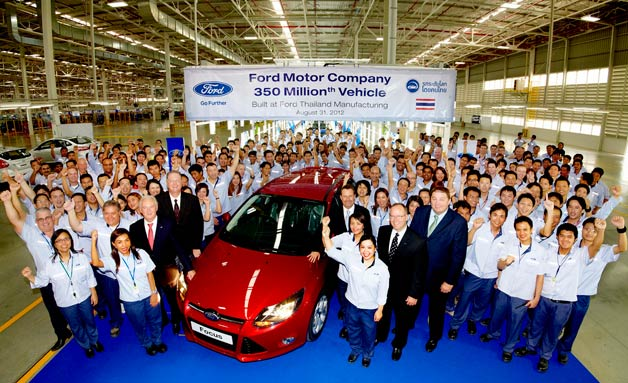 Ford's 350-millionth vehicle produced - plant photo - Ford Focus