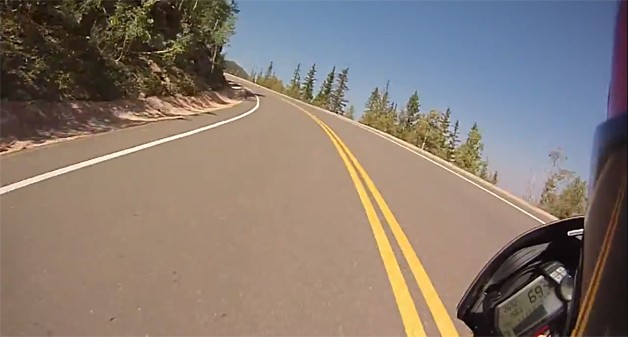 Greg Tracey's Pikes Peak run in 2012 - cyclecam
