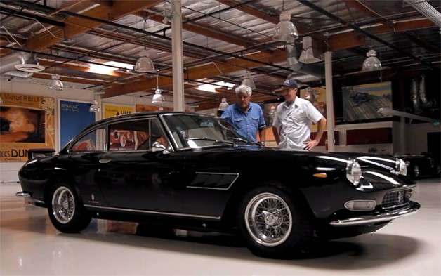 jay leno adam carolla 628 Jay Lenos Garage finally welcomes a Ferrari, courtesy of Adam Carolla