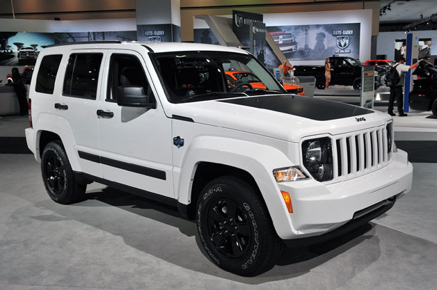 2012 Jeep Liberty - white with black trim - auto show floor