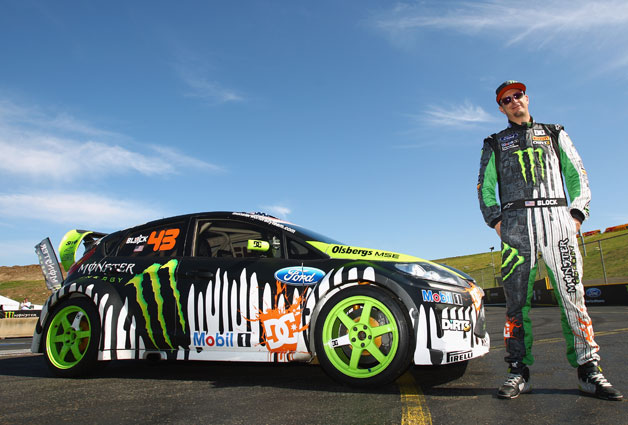 Ken Block with Ford gymkhana racer