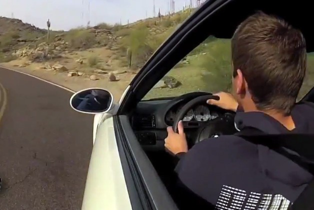Kid crashes BMW M3