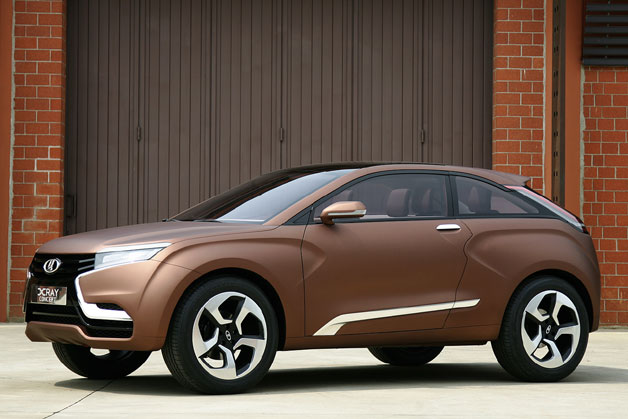 Lada Xray Concept - crossover design study - front three-quarter view