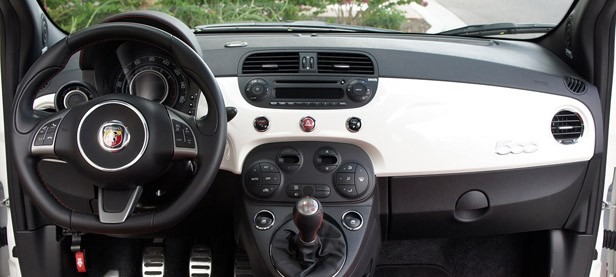 2012 Fiat 500 Abarth interior