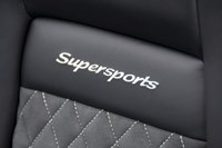 2012 Bentley Continental Supersports Convertible seat detail
